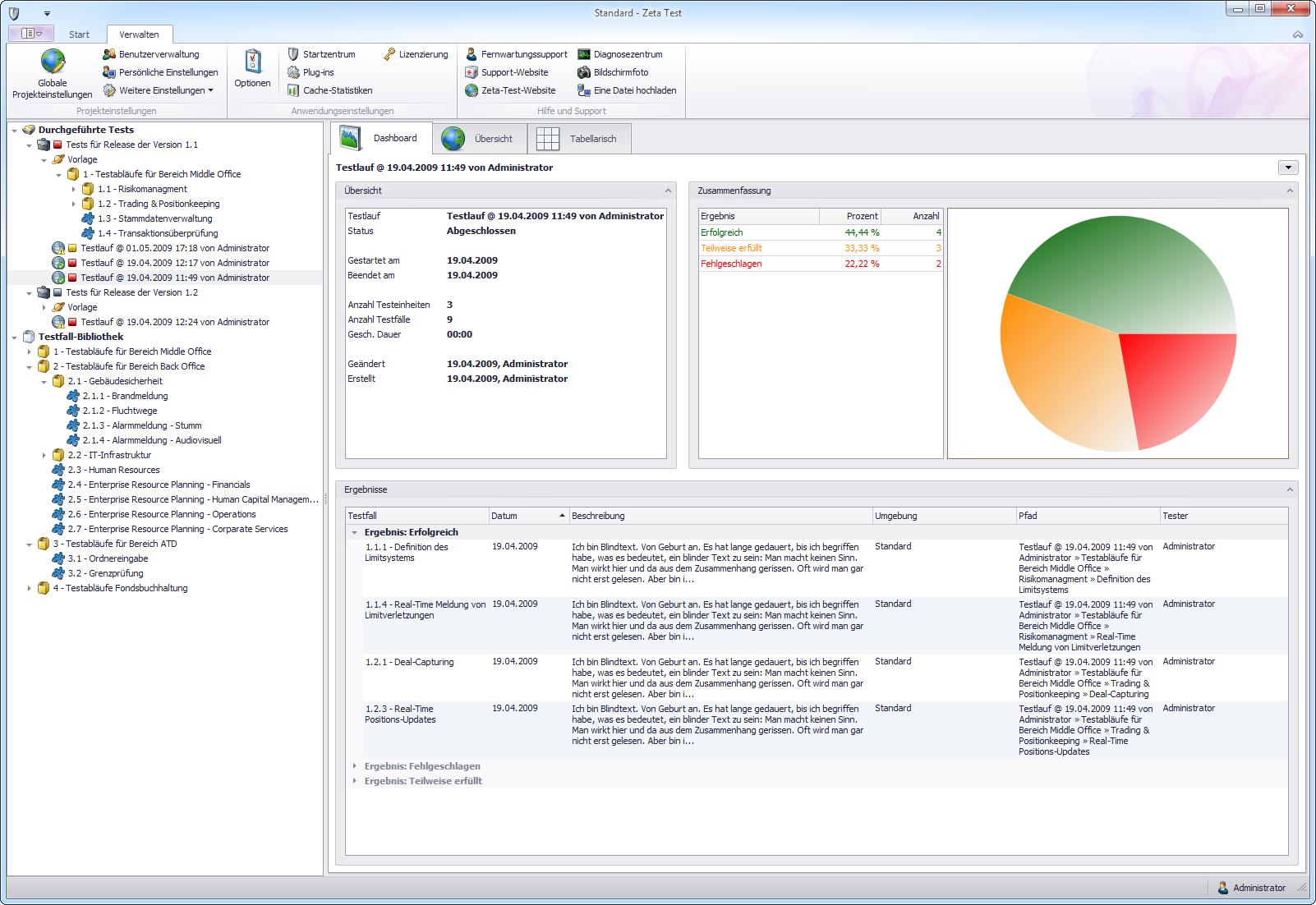 testfall – Seite 2 – Test Management Software